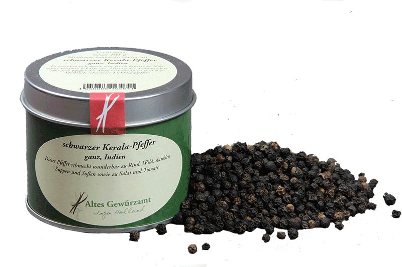 Schwarzer Kerala-Pfeffer, 70 Gramm